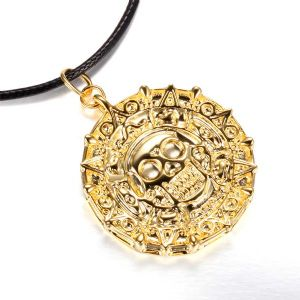 Pirates of the Caribbean GOLD aztec necklace